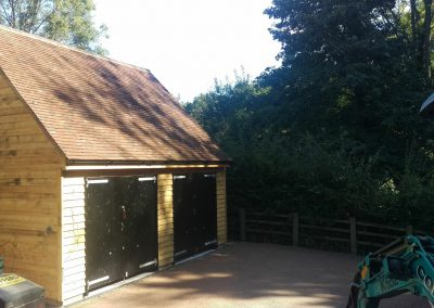 Fairwarp double garage with room over planning and building regulations