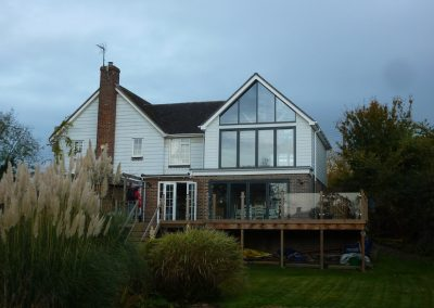 Isfield transformation glass wall extension